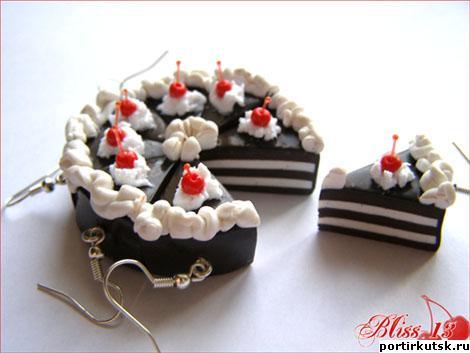 Handmade тортики серёжки фото